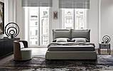 Итальянская мягкая современная кровать CATLIN фабрика LeComfort, фото 2