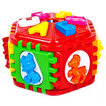 Сортер шестикутний з буквами та тваринами 50-003 Kinderway