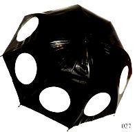 Женский зонт трость (черный)