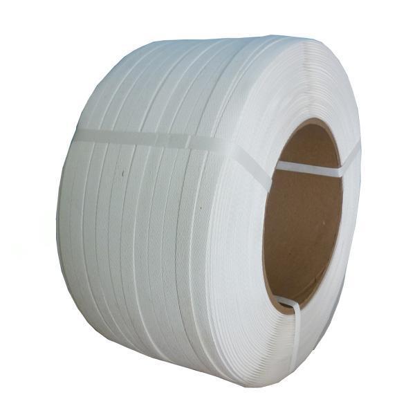 Стрічка пакувальна ПП 16мм*1.0 біла 1300м