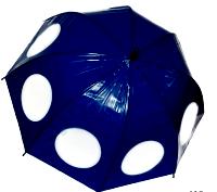 Женский зонт трость (синий)