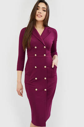 (XS, S, M) Вишукане фіолетове класичне плаття Vinsty