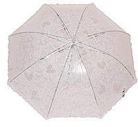 Женский зонт трость (белый)
