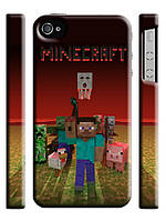 Чехол для iPhone 4/4s Майнкрафт