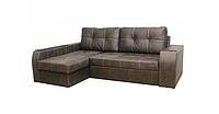 Угловой диван Garnitur.plus Элит коричневый 245 см