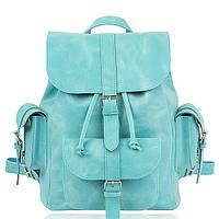 Рюкзак кожаный мятный орландо L, фото 1