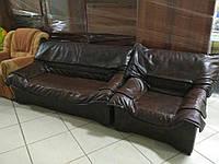 Диван+кресло для офиса или гостинной б/у