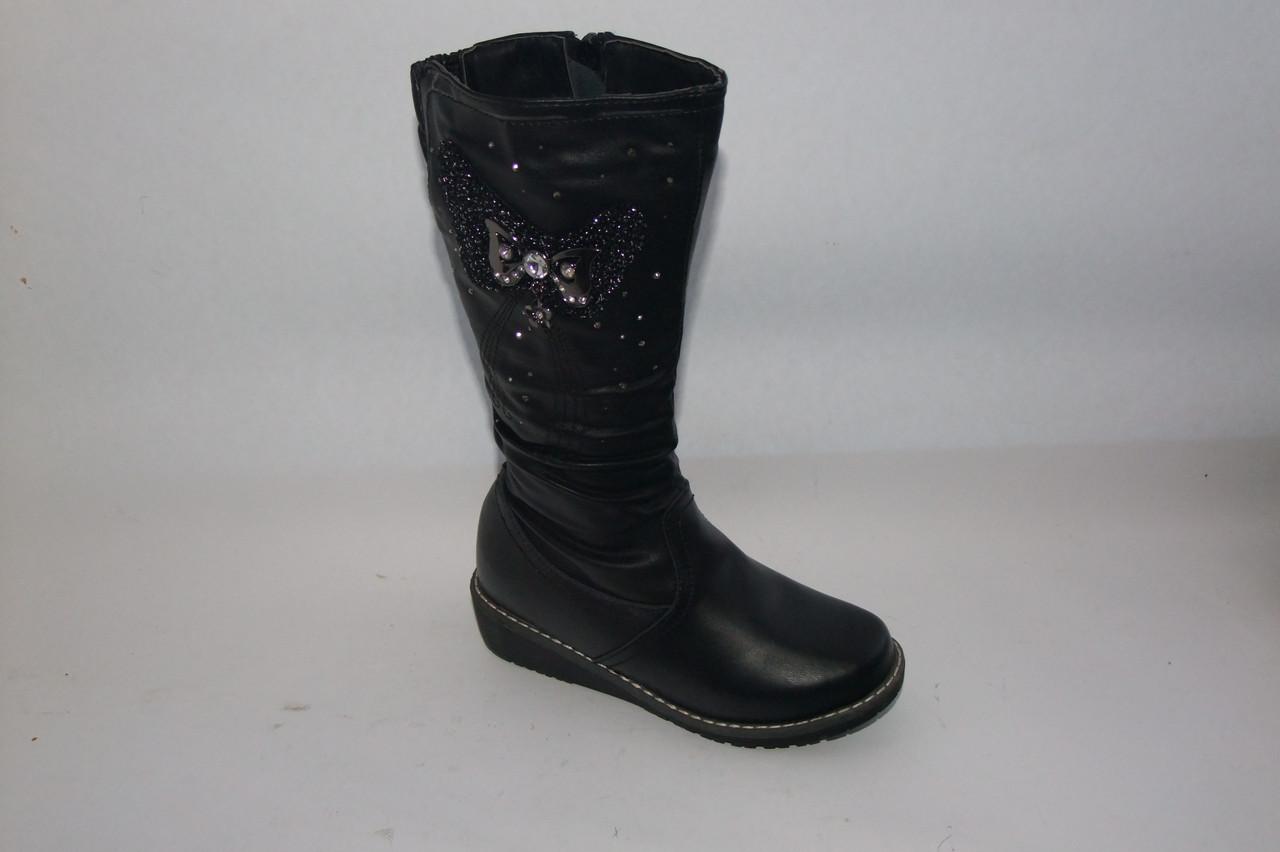 Зимние сапожки на девочку(32-37)черные