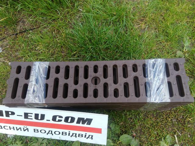 Коричневые пп решетки для водоотвода