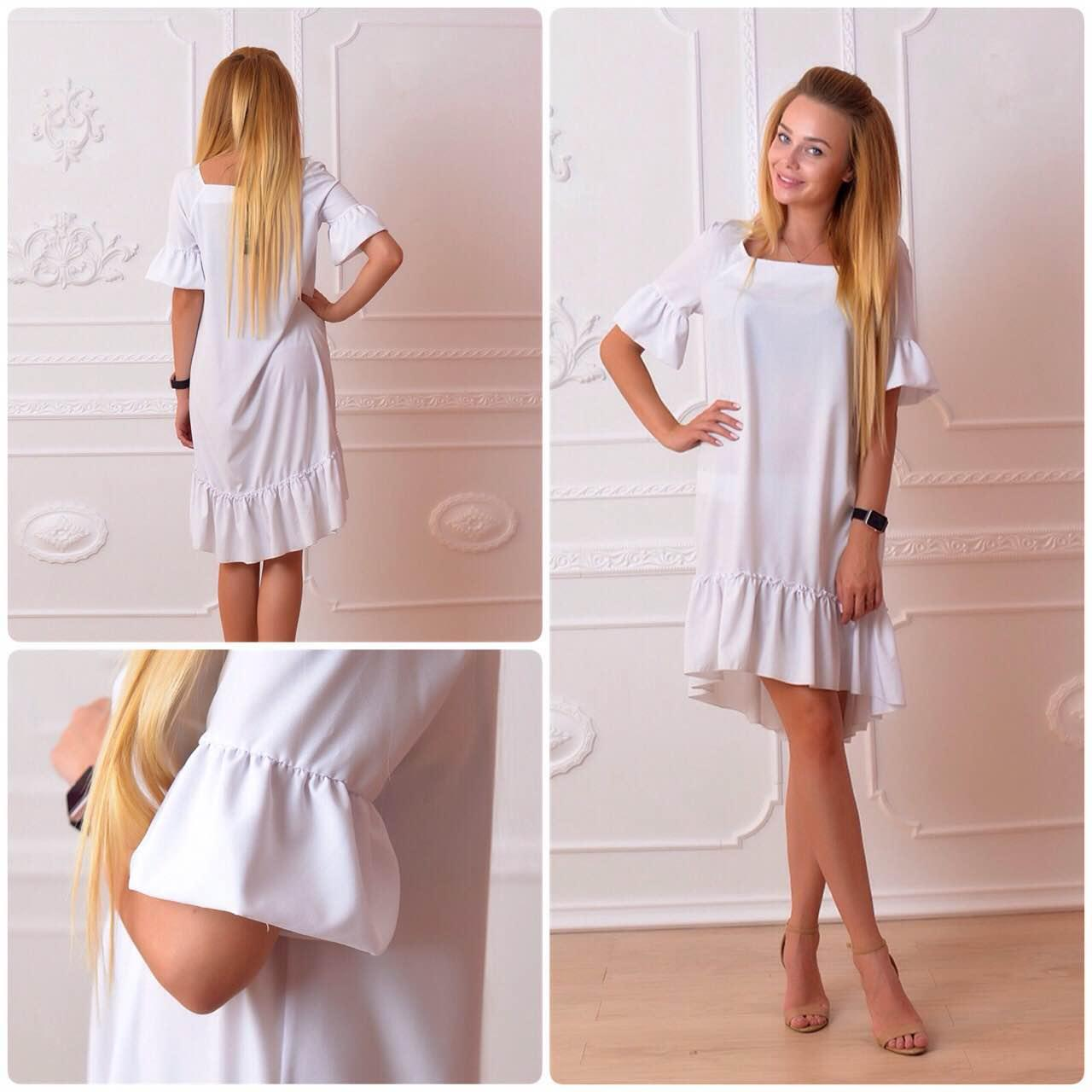 Платье, модель 789, белое