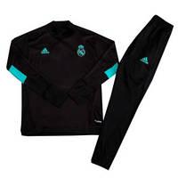 Костюм детский тренировочный Реал Мадрид черный