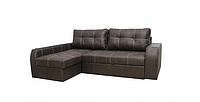 Угловой диван Garnitur.plus Элит темно-коричневый 245 см