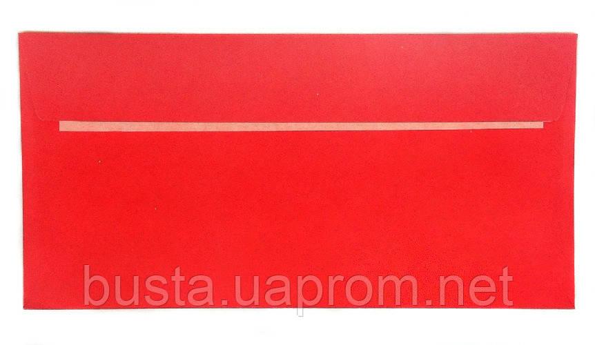 Конверт красный Е65 с клейкой лентой