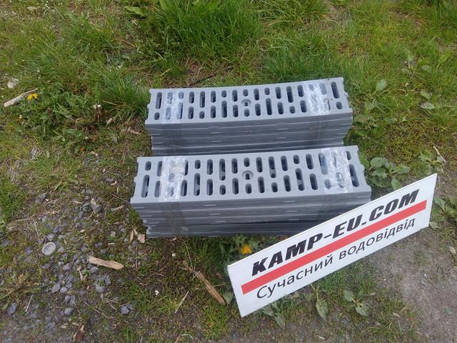 Водоотводные решетки легкие, цвет серый