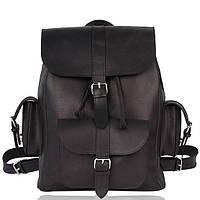 Рюкзак кожаный черный L, фото 1
