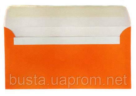 Конверт оранжевый Е65 с клейкой лентой, фото 2