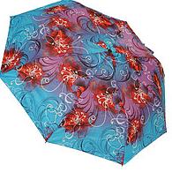 Женский складной зонт полуавтомат (комбинированный)