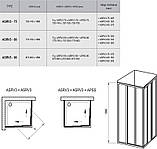 Душові двері RAVAK ASRV3-80 білий+transparent/grape, фото 3