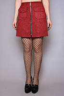 Юбка замшевая Трапеция замш, (2цв), замшевая юбка, юбка из эко-замша, юбка трапеция, ирмана