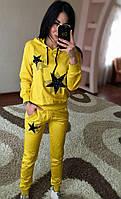 Женский спортивный костюм со звездами (кофта с капюшоном и брюки), фото 1