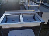 Мойка 2-секционная из нержавейки 1200х600х850 (гл.300мм)