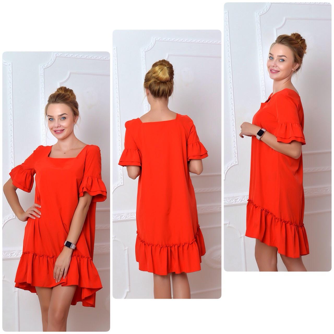 Платье, модель 789, красное