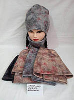 Подростковая шапка для девочки Цветной песок р.52-54