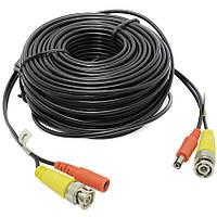 Видео кабель для видеонаблюдения, 5 метров,  2 в 1 (BNC видеосигнал + DC питание), модель VK-05