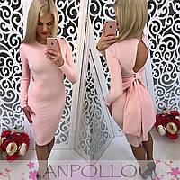Женское оригинальное платье с бантом (расцветки), фото 1