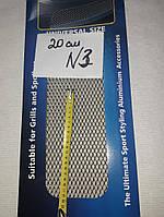 Сітка декоративна Sahler 100*20см Хром №3, СІТКА Радіатора, сітка декоративна в Бампер