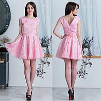"""Розовое красивое платье вечернее, нарядное """"Грейс"""", фото 1"""