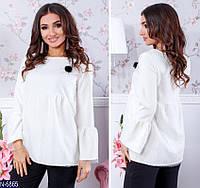 Женская молодежная свободная блуза с рукавами