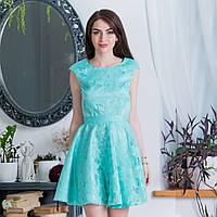 """Мятное вечернее короткое платье """"Грейс"""", фото 1"""