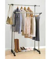 Стойка вешалка для одежды двойная