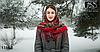 Павлопосадский бордовый платок Осеннее танго, фото 2