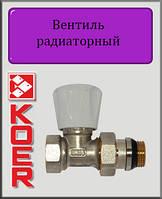 """Кран радиаторный прямой 1/2"""" Koer KR 903-Gi верхний с """"антипротечкой"""""""