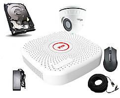 Комплект AHD видеонаблюдения c 1 камерой 2 Мп FullHD 1080P Longse 2M1V