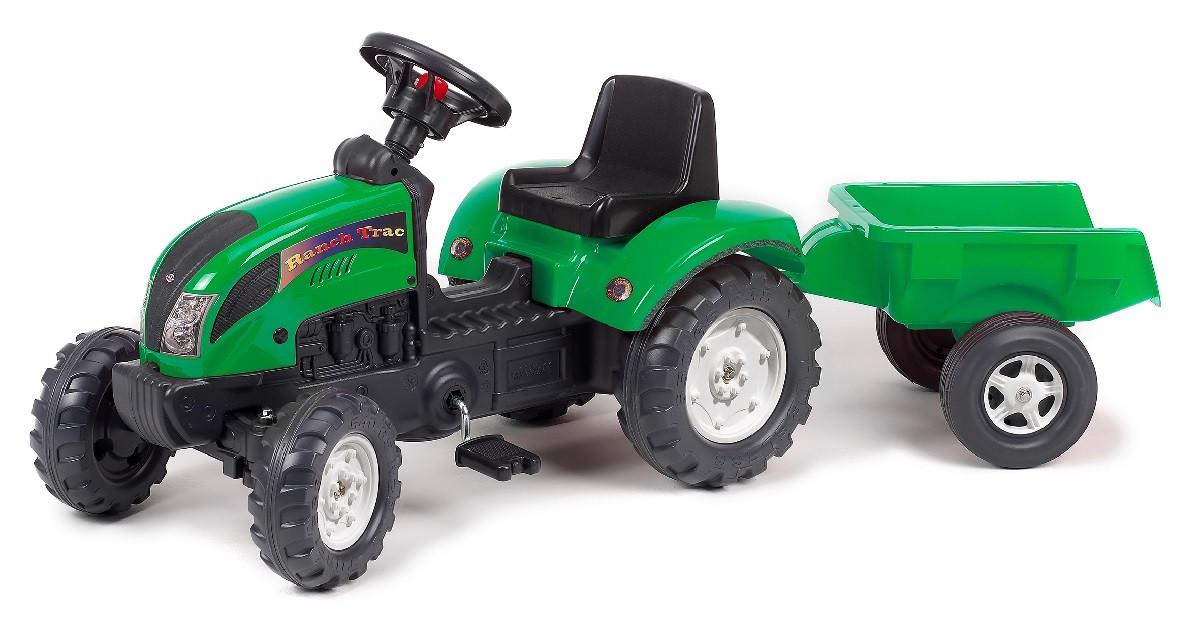 Детский педальный трактор FALK 2052AC Ranch зеленый