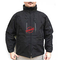 Непромокаемая куртка Mil-Tec BLACK SOFTSHELL JACKET PCU, фото 1