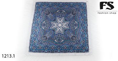 Белыйпавлопосадский шерстяной платок Регина, фото 2