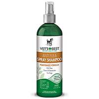 VET'S BEST Anti-Flea Easy Spray Shampoo, 470 мл -  шампунь-спрей без смывания от блох для собак