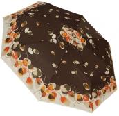 Женский складной зонт автомат (принт шоколад)