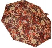 Женский складной зонт автомат (принт коричневый)