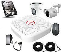 Универсальный комплект AHD видеонаблюдения c 2 камерами 2 Мп + HDD 500 Longse 2M1V1N