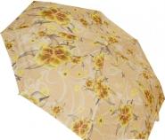 Женский складной зонт автомат (принт желтый)