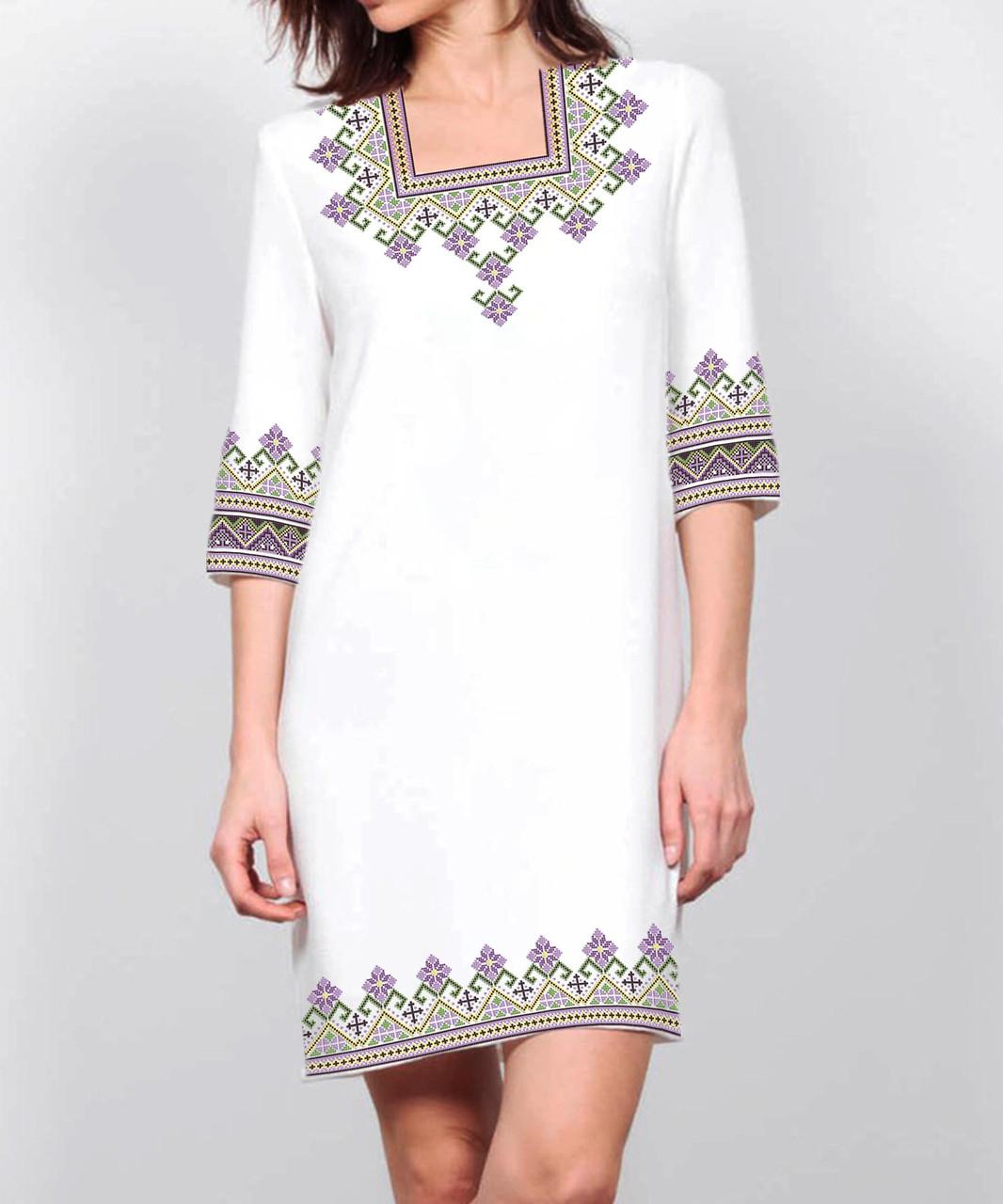 Заготовка жіночого плаття чи сукні для вишивки та вишивання бісером Бисерок  «Світанкове» (П-155 )