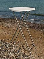 Барный стол Олимп PLTBY-6002 белый, столешница из HDPE Пенд для летних открытых площадок