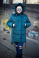 Женское пальто с встроенными наушниками больших размеров tez1015964