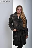 Женское пальто батального размера tez6151168