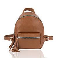 Рюкзак кожаный коричневый флатар, фото 1